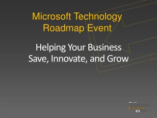 Microsoft Technology Roadmap Event
