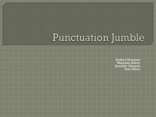 Punctuation Jumble