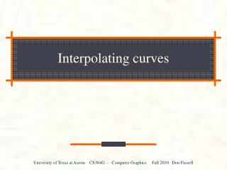 Interpolating curves