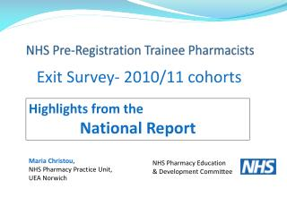 NHS Pre-Registration Trainee Pharmacists