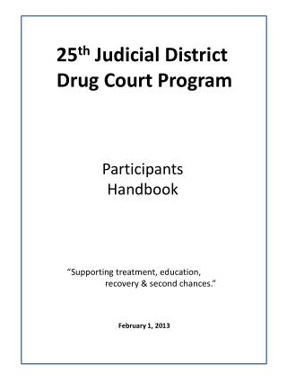 25 th  Judicial District  Drug Court Program