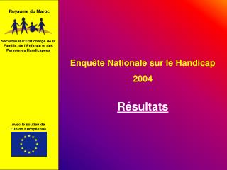 Enqu te Nationale sur le Handicap  2004