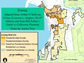 Land Use Planning Tools Lecture 3: Economics of Zoning