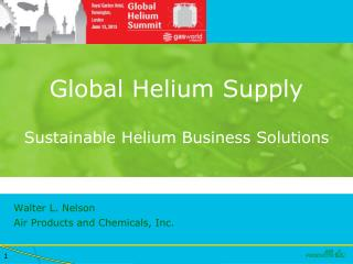 Global Helium Supply Sustainable Helium Business Solutions