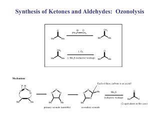 Synthesis of Ketones and Aldehydes:  Ozonolysis