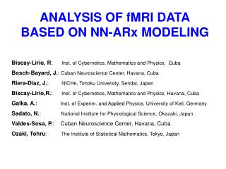 ANALYSIS OF fMRI DATA BASED ON NN-ARx MODELING