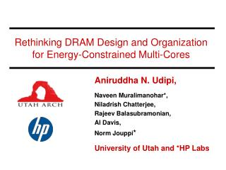 Rethinking DRAM Design and Organization for Energy-Constrained Multi-Cores