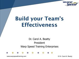Build your Team's  Effectiveness