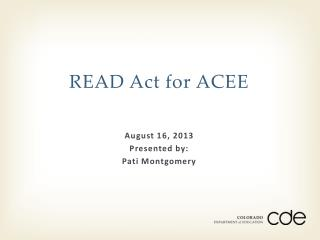 READ Act for  ACEE