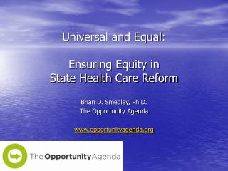 Universal and Equal: Ensuring Equity in  State Health Care Reform