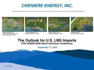 The Outlook for U.S. LNG Imports  27th USAEE/IAEE North American Conference September 17, 2007