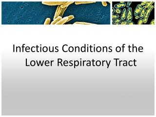 Infectious Conditions of the Lower Respiratory Tract