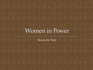 Women in Power