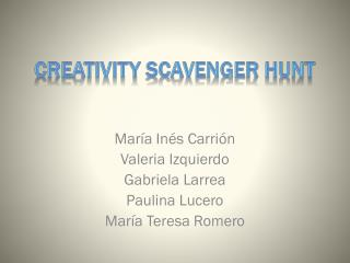 CREATIVITY SCAVENGER HUNT