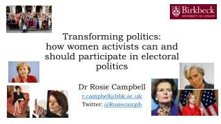 Transforming  politics:  how  women activists can and should participate in electoral politics