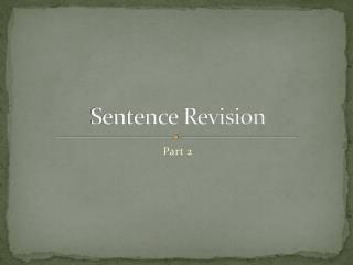 Sentence Revision