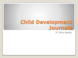 Child Development Journals