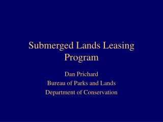 Submerged Lands Leasing Program