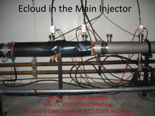 Ecloud  in the Main Injector