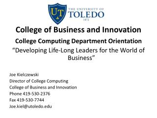 College of Business and Innovation