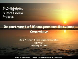 The Legislative Sunset Review Process