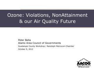 Ozone: Violations, NonAttainment  & our Air Quality Future