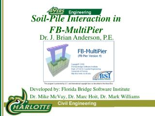 Soil-Pile Interaction in  FB-MultiPier