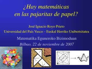 ¿Hay matemáticas  en las pajaritas de papel?