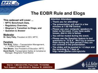 The EOBR Rule and Elogs