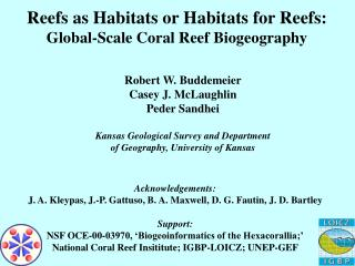 Reefs as Habitats or Habitats for Reefs: Global-Scale Coral Reef Biogeography