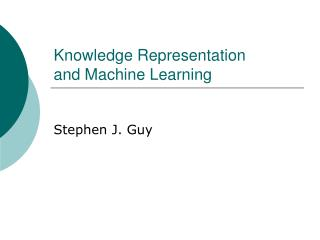 Knowledge Representation and Machine Learning