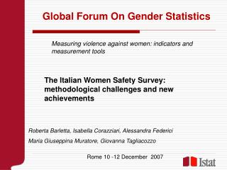 Global Forum On Gender Statistics