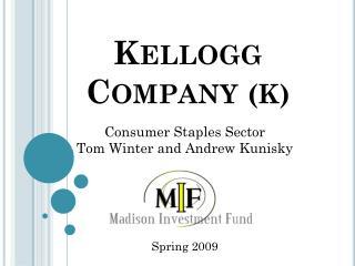 Kellogg  Company  (K)
