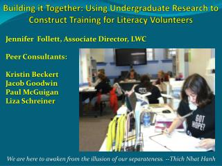 Building it Together: Using Undergraduate Research to Construct Training for Literacy Volunteers