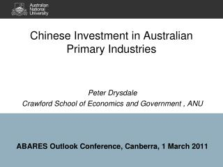 Chinese Investment in Australian Primary Industries