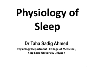 Physiology of Sleep and Dreams