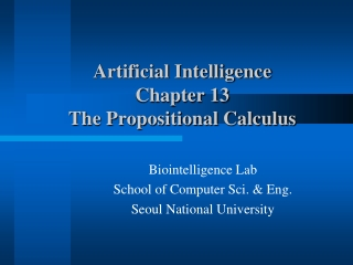 Chapter 2: Predicate Calculus