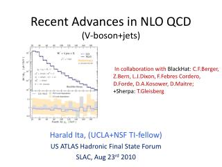 Recent Advances in NLO QCD (V- boson+jets )