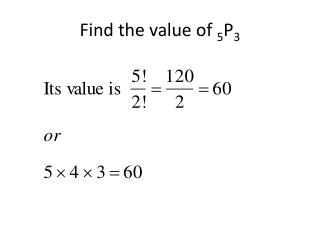 Find the value of  5 P 3