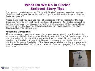 What Do We Do in Circle? Scripted Story Tips
