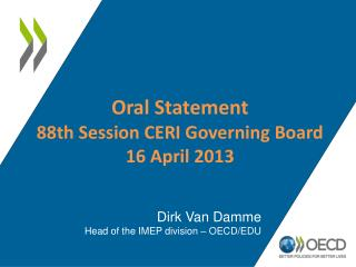 Oral Statement  88th  Session CERI Governing Board 16 April 2013