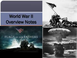 World  War II  Overview Notes