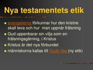 Nya testamentets etik
