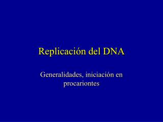 Replicaci ón del DNA