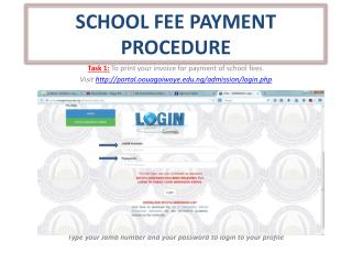 SCHOOL FEE PAYMENT PROCEDURE