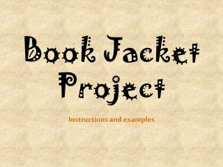 Book Jacket Project