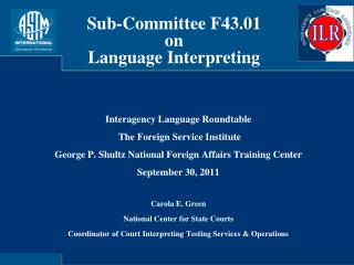 Interagency Language Roundtable The Foreign Service Institute