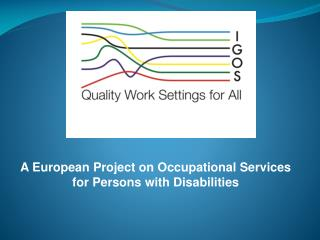 A European Project on Occupational Services  for Persons with Disabilities