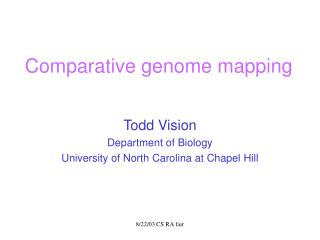 Comparative genome mapping
