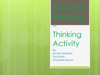 Directed Reading – Thinking Activity